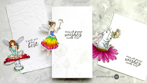 Fairy Cards with Off the Edge Technique