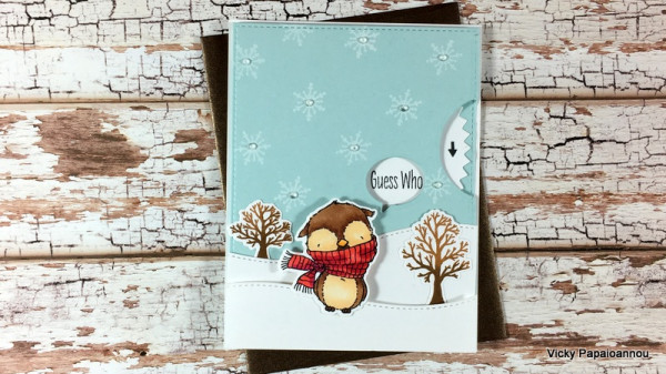Winter Owl Wheel Card