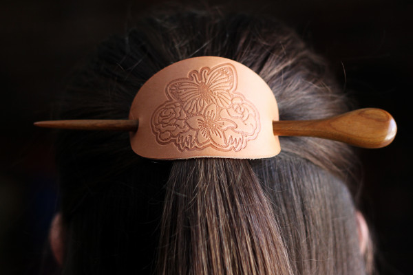 Hair Clip Embossed with 3D Printed Stamp