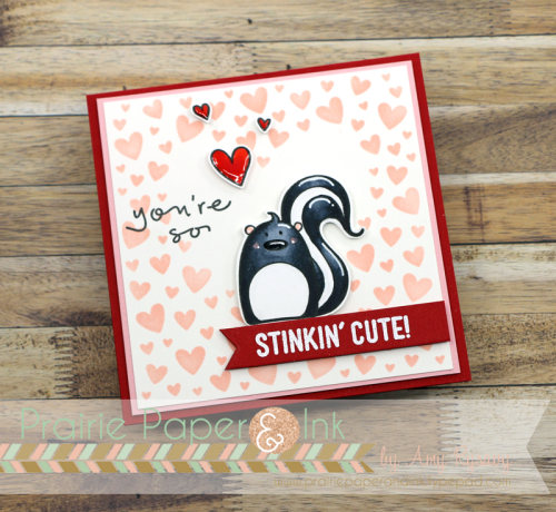Skunk Valentine Card