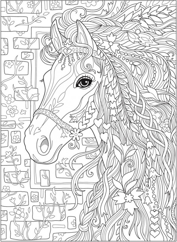 5 Fantasy Horse Coloring Pages – Stamping