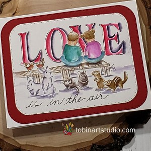 Kids and Critters Love Card