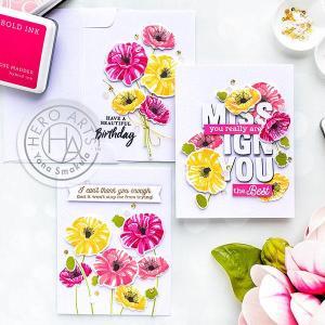 Poppy Flower Cards
