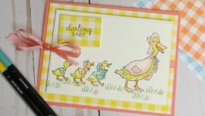 Ducklings Baby Card
