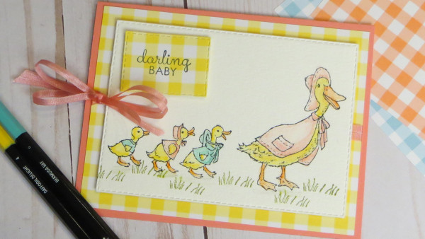 Ducklings Baby Card