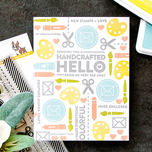 5 Different Stamped Card Backgrounds