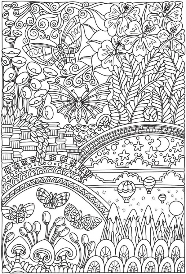 5 Butterfly Coloring Pages