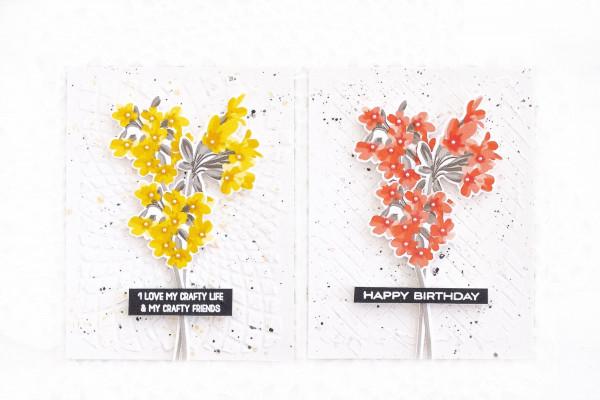Floral Cards with Background Texture