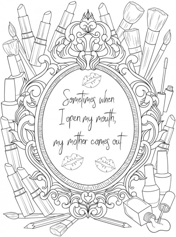 6 Coloring Pages for Mom