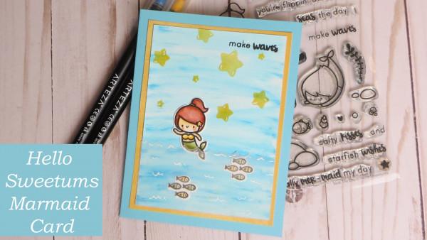 Waving Mermaid Card