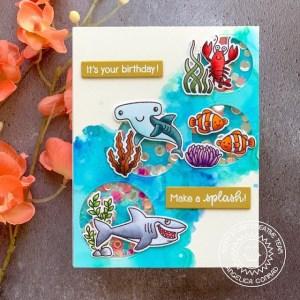 Oxide Ink Ocean Card
