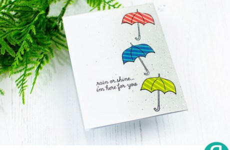 Paper Pieced Umbrellas Card