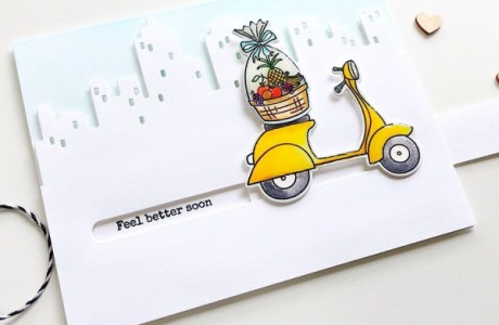 Pull Tab Slider Moped Card