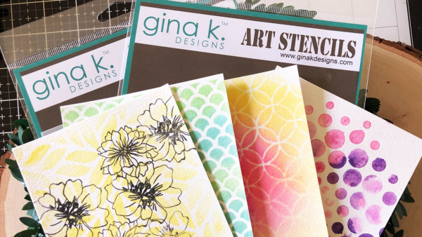 Stencils and Watercolor