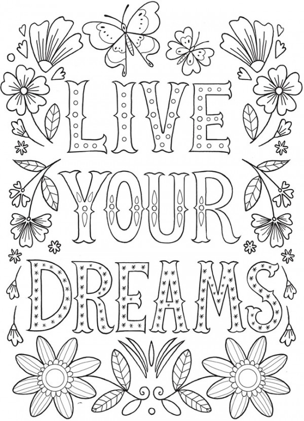 6 Express Yourself Coloring Pages