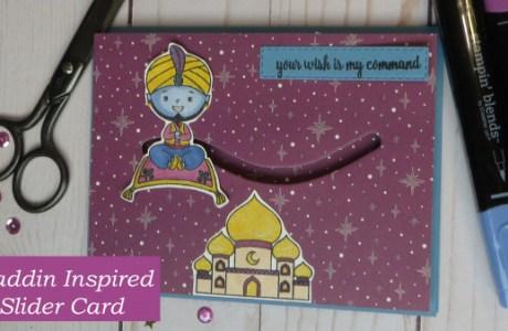 Aladdin Inspired Slider Card