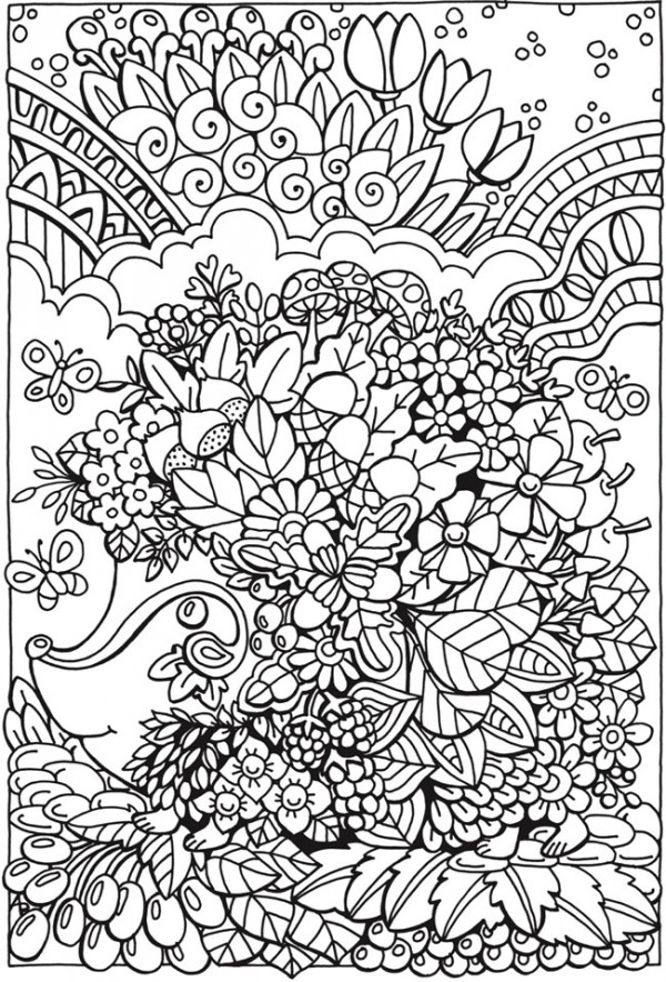 5 Entangled Forest Coloring Pages - Stamping