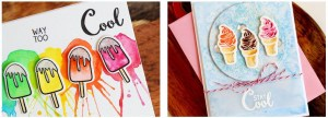 Frosty Treat Card Backgrounds