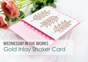 Die Cut Inlaid Shaker Card