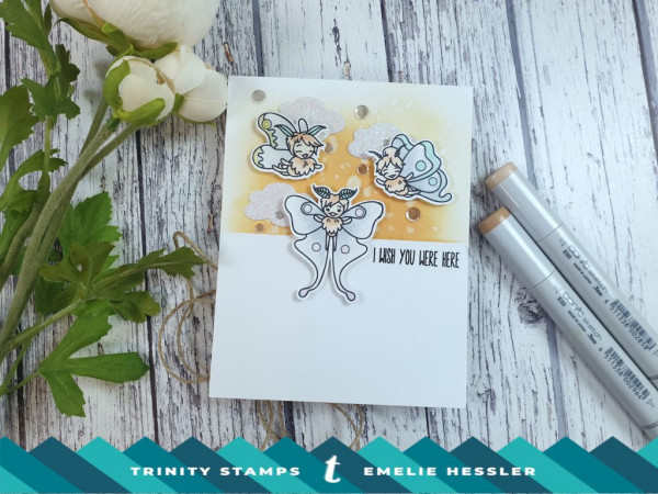 Fairy Card Partial Inked Background