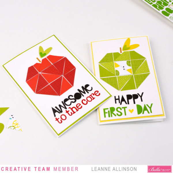 Back to School Apple Cards
