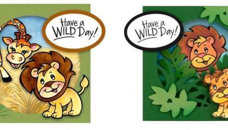 Lion Diorama Window Cards
