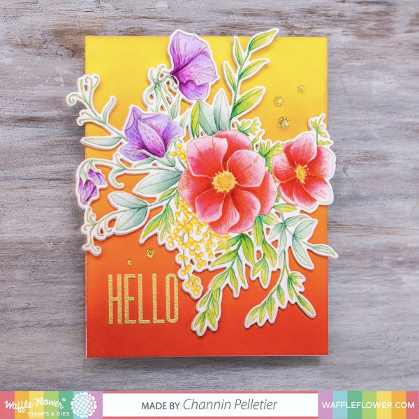 No Line Coloring Flower Card
