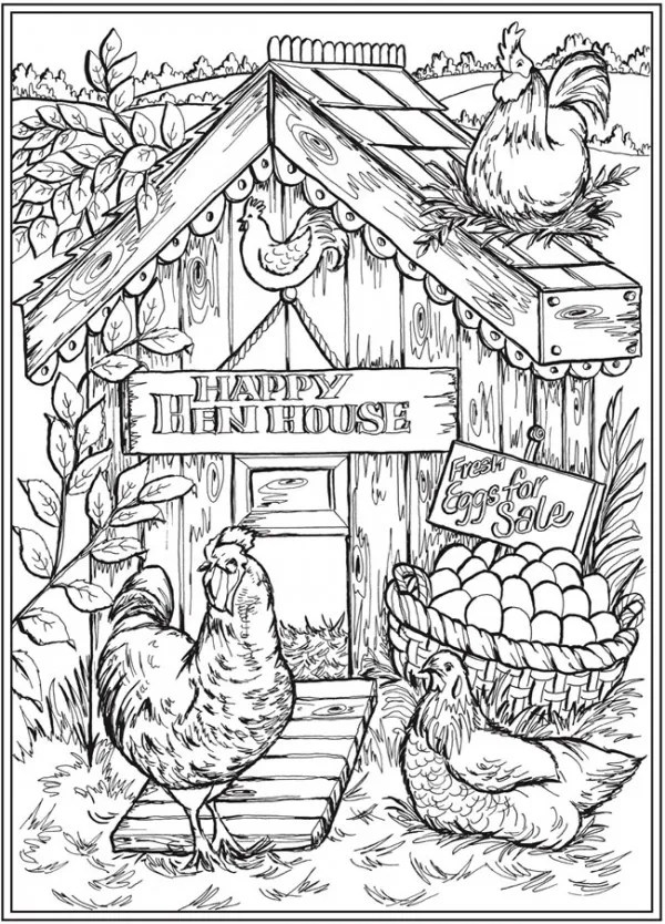 Mountain Scene coloring page | Free Printable Coloring Pages