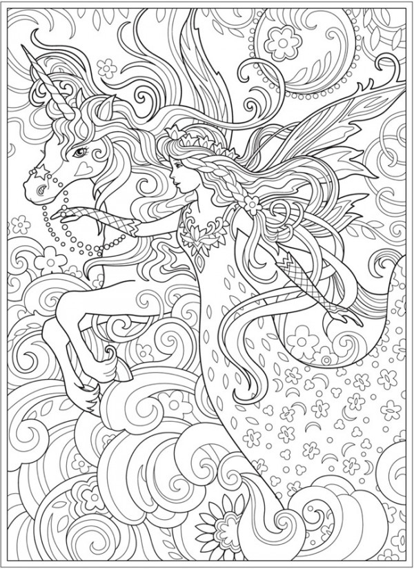 6 Magical Fairy Coloring Pages – Stamping