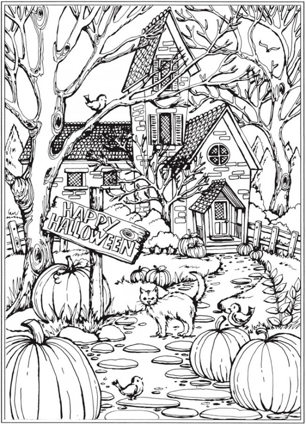 6 Fall And Halloween Coloring Pages Stamping