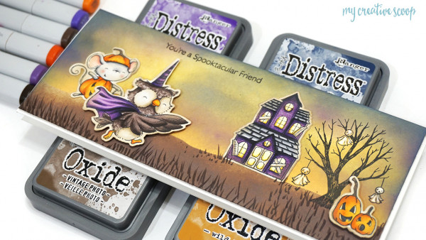 Halloween Scene Slim Card