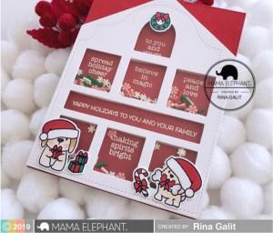 Holiday House Shaker Card