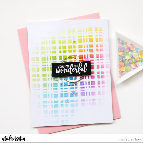 Layered Stencils Card Background