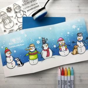 Tri-Fold Snowman Card
