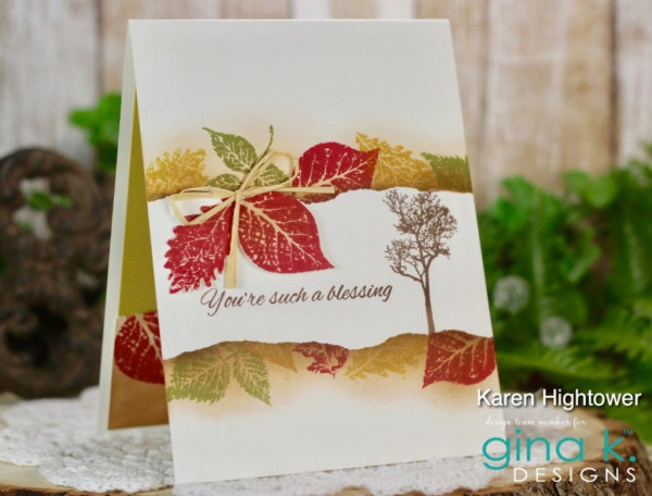 One Layer Fall Leaves Card
