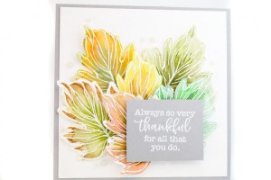 Fall Watercolor Resist Card