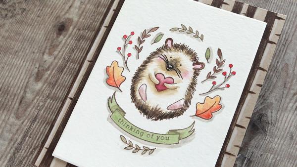 Fall Hedgehog Card