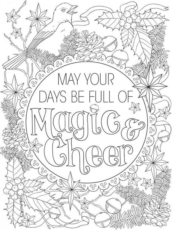 4 Christmas Coloring Pages