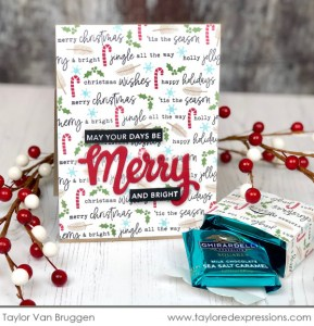 Christmas Card with DIY Pattern Paper