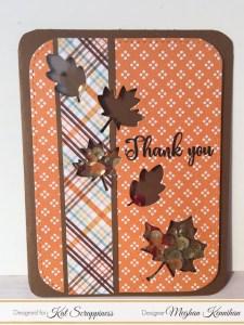 Fall Leaves Shaker Card