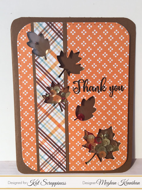 Fall Leaves Shaker Card