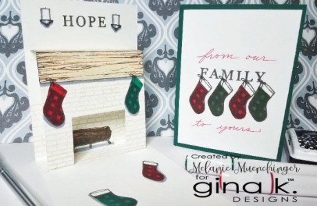Christmas Fireplace Pop Up Card