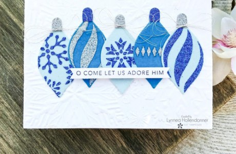 Glitter and Flocked Ornaments Card