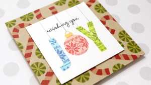 Joy Card with a Kissing Technique