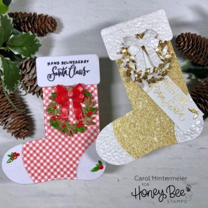 Stocking Shaped Gift Card Holders