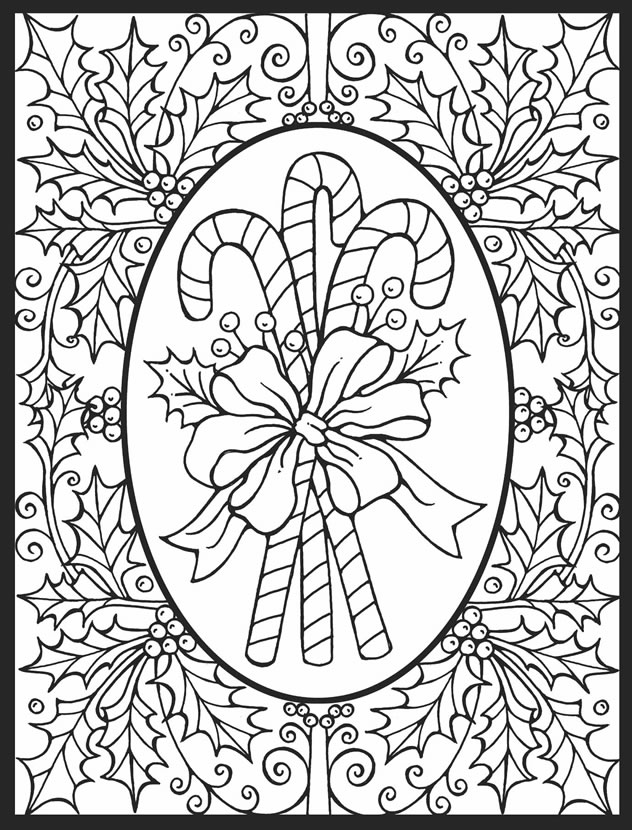 4 Christmas Stained Glass Coloring Pages – Stamping
