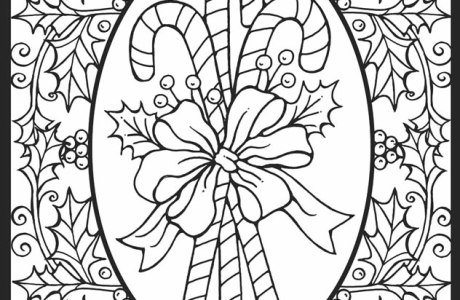 4 Christmas Stained Glass Coloring Pages