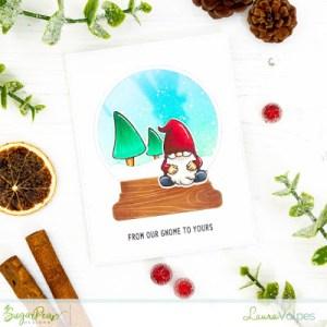Gnome Snow Globe Card