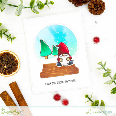 Gnome Snow Globe Card