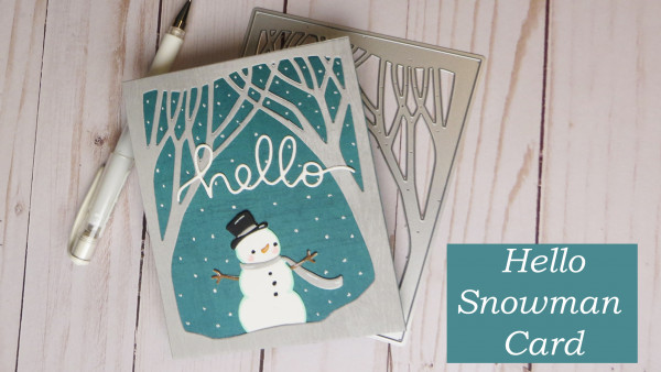 Snowman Holiday Card with Only Dies